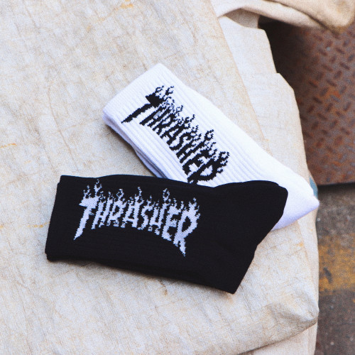 Thrasher Flame Socks