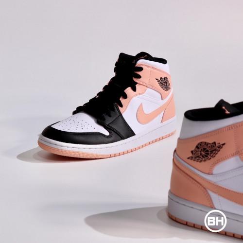 Air Jordan 1 Mid Crimson Tint Toe