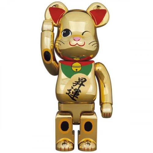BE@RBRICK 招き猫 昇運 弐 金メッキ400%